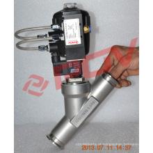 Válvula solenóide pneumática com válvula de assento de plástico