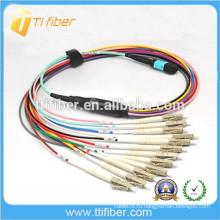 MPO-LC 12-жильный патч-корд, MM, 0,9 мм кабель OD