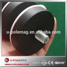 POT01-42 Imanes de revestimiento de caucho NdFeB / Neodimio Imanes de retención / imanes revestidos de caucho con fuerza de tracción de 25 kg