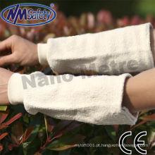 Luva de algodão NMSAFETY com punho em malha