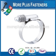 Made in Taiwan Stainless Steel german type hose clamp ftypes of hose clamps heavy torque hose clamps