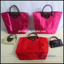 High Quality Women Shopping Bag, Wholesale Promotional 600D polyester foldable Bag