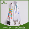 New design double hook id card sublimated lanyard with custom logo