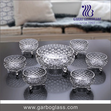 7PCS Footed Glass Bowl Set with New Fancy Fish Design