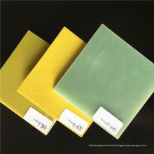 Feuille / panneau de fibre de verre époxyde 3240 jaune en haute qualité