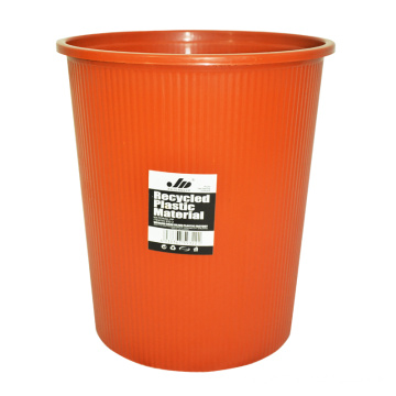 Plastic Pure Color Open Top Waste Bin for Home (B06-932)
