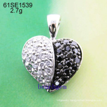 Silver CZ Jewelry Pendant (61SE1539)
