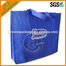 sac de poignée non tissé bleu marine pliable recyclable