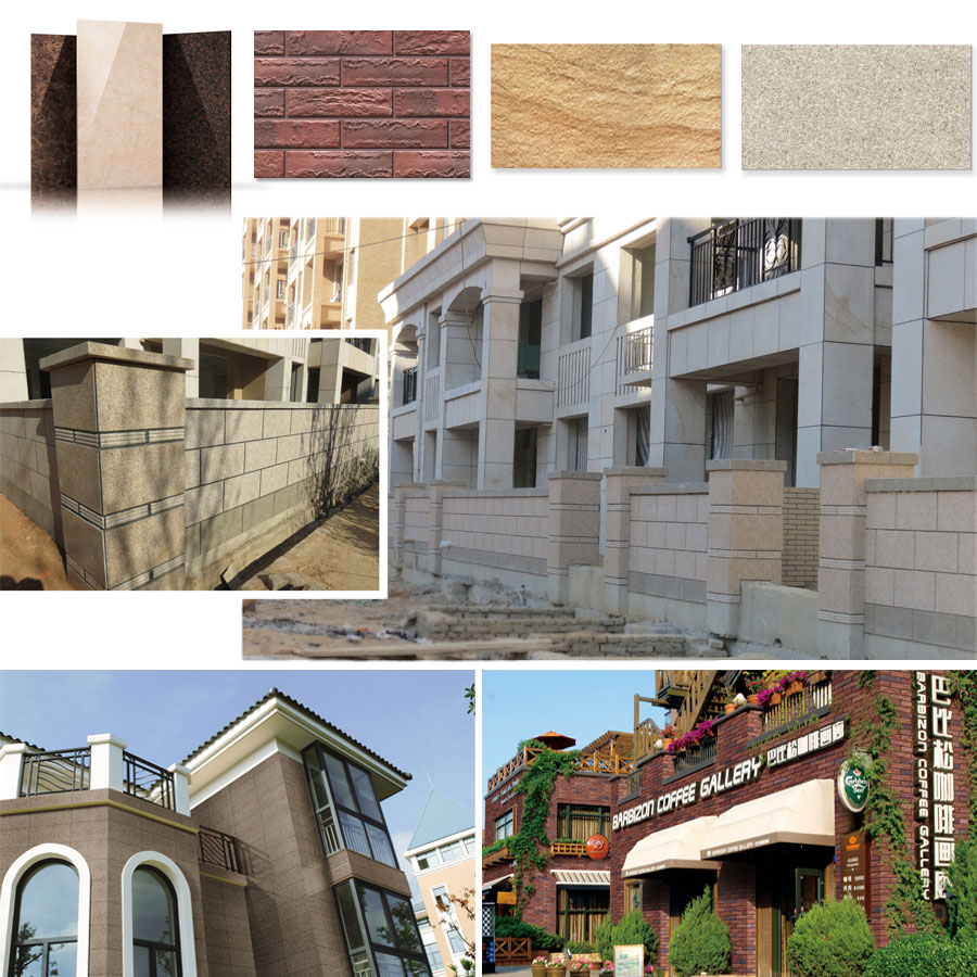 External wall sandstone tiles