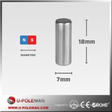 Barra de alto rendimiento NdFeB Magnet D7x18mm 30H