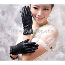 2012 guantes de cuero de la señora de la manera para la pantalla táctil