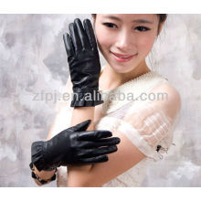 2012 luvas de couro da senhora da forma para a tela de toque