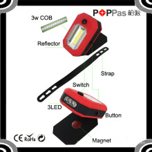 2015 Newest Poppas B70 360 Degree Rotation COB and 3 LED Magnetic LED Handheld Working Torch