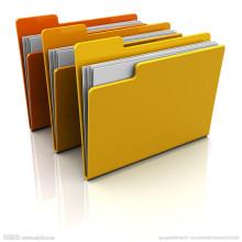 PP / Papier A4 Dokumente Taschen mit Clip