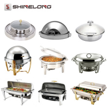 Professional Stainless Steel Hotel Chafing Dish Catering Material Steel Buffet Set Equipamentos Warmers para venda em Guangzhou