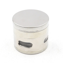 Four layers of flat smoke grinder with side windows