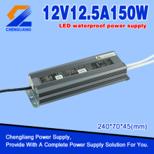Transformateur imperméable de 12V 150W IP67 LED