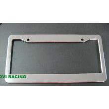 Chromed Car License Plate Frame com titular de paletes de licença personalizado ABS