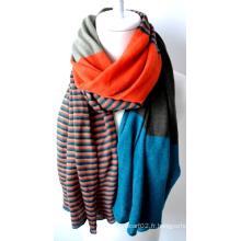 Châle en acrylique tricoté (12-BR201812-10)