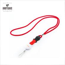 Cordão tubular personalizado Corda de pescoço com cordão redondo Jacquard Cord Lanyard