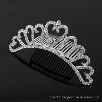 Rhinestone Wedding Tiara Comb Crystal Combs