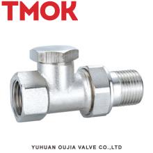 Válvula termostática de rosca interna de latão níquel DN15