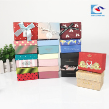custom made private logo paper gift box packaging for flowers and chocolates