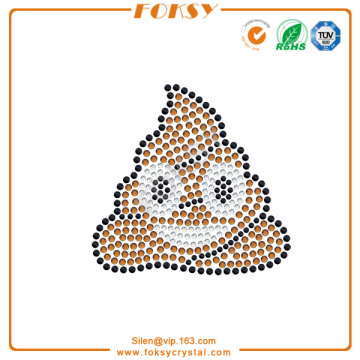 Pile of Poo hotfix iron on emoji rhinestone transfers