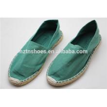 Unisexe en couleur espadrille en gros chaussures de toile