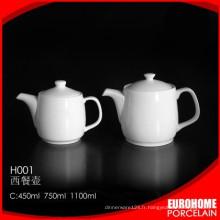 fournitures de Guangzhou en céramique restaurant hôtel tea pot en céramique