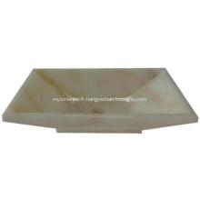 Lavabo en pierre carré en jade avec vasque en pierre