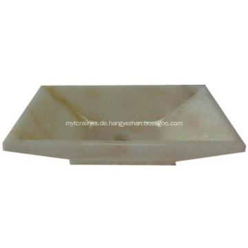 Quadratisches Jade-Kunst-Bassin-Stein-Wannen-Badezimmer