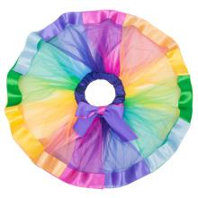 Las muchachas de Karin de la tolerancia acodaron la falda escalonada 1 ~ 9Years del ballet de la danza del tutú de la cinta del arco iris CL010494-1