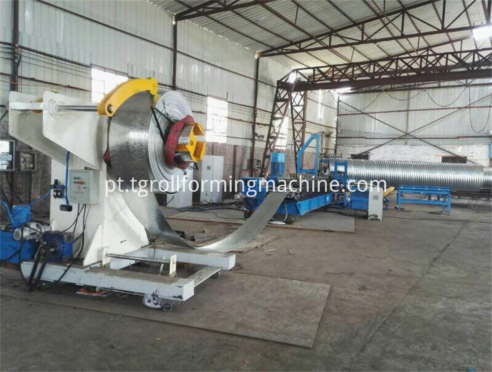 Corrugated Steel Culvert Pipe Forming Machine