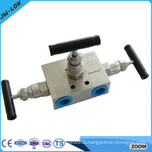 Stainless steel 3 way gas cylinder manifolds