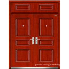 Стальная деревянная двойная дверь (LT-203)