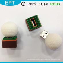 Branco rodada bola de golfe forma USB flash drive (EP012)