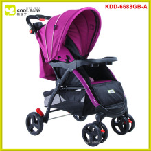 Stainless steel safe baby double stroller