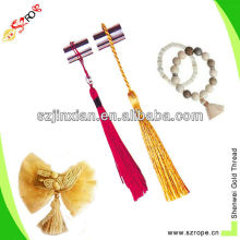 colorful craft tassel with rope/tassel string/long tassels for clothing