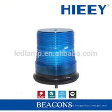 LED de alarma de la lámpara del camión luz azul de advertencia con base magnética de rotación de la función de luz estroboscópica