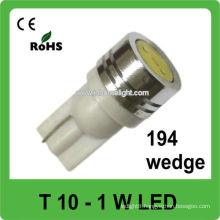 pure white T10 led lighting car led interior lamp