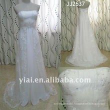JJ2637 Latest Most Stunning new real arrival high quality crystal stones stylerystal embellished wedding dress
