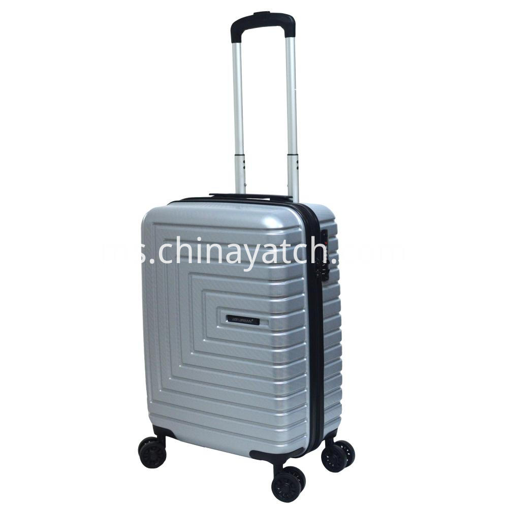 Abs Pc With Woven Pattern Luggage