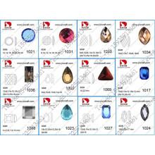 Delicate Machine Cut Mirror Glass Flat Back Glass Stones in Rhinestones