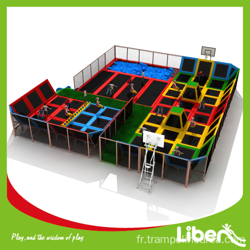 D taillant de trampoline int rieur grand saut l for Trampoline interieur