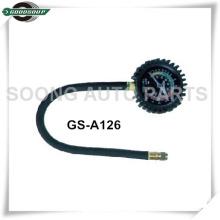 Manguera flexible con indicador cromado de presión de neumáticos