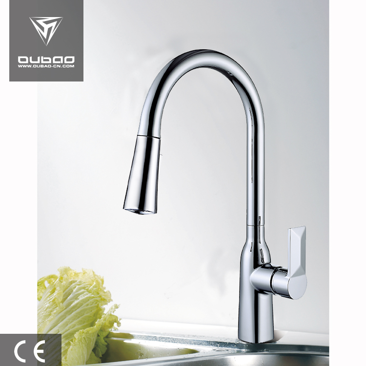 Hot and cold kitchen faucet