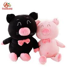 Navidad de peluche mullido gordito redondo cerdo cuadrado al por mayor bailando cantando linda grasa negro peluche de felpa de juguete