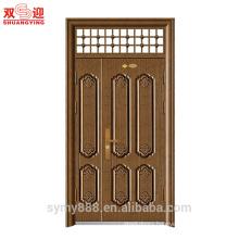 Cheap Algeria home mon son doors one and half leaf steel door