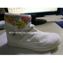 Günstige Lady Casual Schuhe Injektion MID-Cut Canvas Schuhe Stock (FF329-8)